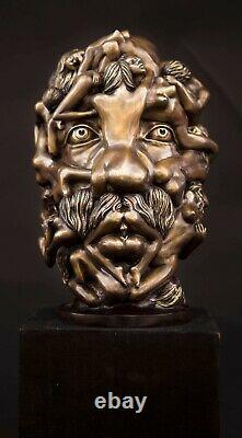 Fine Arts Wohnkultur Bronze Sculpture Figure Dali Head Erotic Statue Body