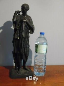 Former Great Sculpture Regulates Patina Bronze Signed E. Dubois Statue Art Deco