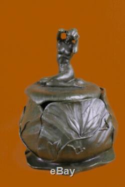 French Art Nouveau Bronze Sculpture By Maurice Bouval Figurine Decor