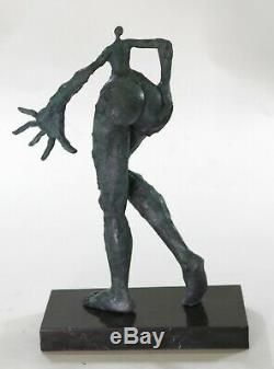 From Bronze Collection Sculpture Statue Art Deco Rare Salvador Dali Lady Figurine