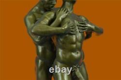 Gay Erotic Bronze Art Statue Homo Naked Man Figure Nu Male Sculpture Signed