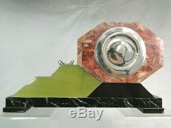 George Lavrov Rare Pendulum Art Deco Bronze Sculpture Biche Argente No Chiparus