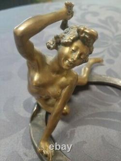 Georges Recipon (1860-1920) Bronze Brings Happiness Woman - Art Deco (susse Frères)