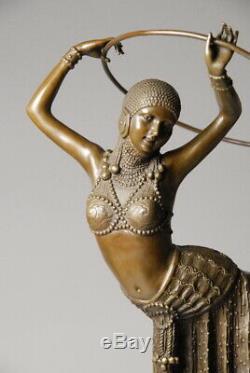 Great Art Nouveau Sculpture By D. Chiparus Bronze Art Free Shipping