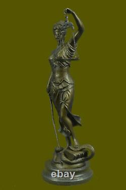 Greek Goddess Themis True Statue Bronze Store Lady Justice Sculpture Art Deco
