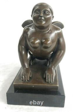 Greek Sphinx Bronze Sculpture Statue Figure Art Deco'lost' Cire By Botero