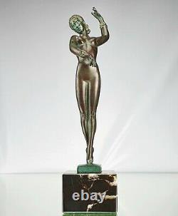 Guerbe P. The Faguays Sculpture Bohème Bronze Dancer Max Le Verrier Art Deco