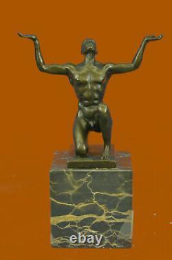 Hair Nude Hallow Man Handicraft Art Bronze Sculpture Statue Figurine Decor Art