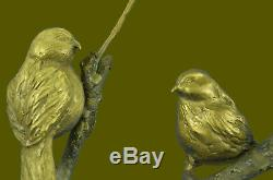 Hand Love Bird Commemoration Figurine Statue Bronze Sculpture Art Allocated