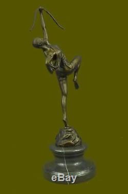 Huntress Diana Style Art Nouveau Museum Bronze Sculpture Statue Figurine T