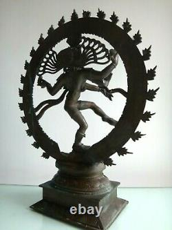 Important Bronze Shiva Nataraja India 50cm Old Wide Indian Art Sculpture XIX