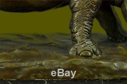 Incredibly Detailed Rhinoceros Bronze / Black Rhino Wildlife Art Deco Sculpture