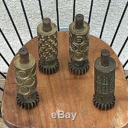 Industrial Design Art Sculpture 4 Confectionery Molds Bronze Vintage 1950