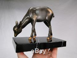 Irenee Rochard (1906-1984) Beautiful Sculpture Fake Art Deco Patina Bronze Statue