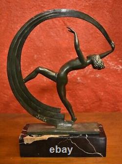 Janle By Le Verrier The Ribbon Dancer Sculpture Regulates 1930 Art Deco