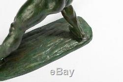 Javelin Thrower. Art Deco Bronze Signed Guero. Circa 1940