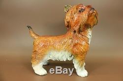 Large Bronze Terrier Scottish Statue Art Deco Garden Yard Sculpture Figurine