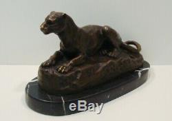 Lion Statue Sculpture Animal Style Art Deco Art Nouveau Bronze Massive S
