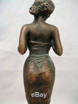 Little Time Bronze Female Sculpture Art Nouveau Early Twentieth Century