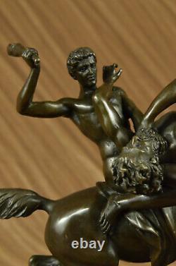Made Theseus Beat The Centaur Bianor Bronze Sculpture Deco Art Figure