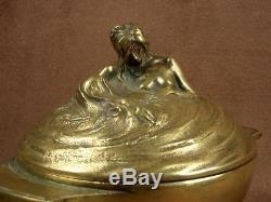 Magnificent Pot Covered Naiades Bronze Sculpture Art Nouveau By A Carpenter