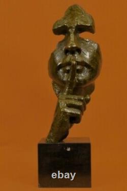 Man Face Sculpture Statue New Bronze Dali The Silence Hot Cast Art Deco