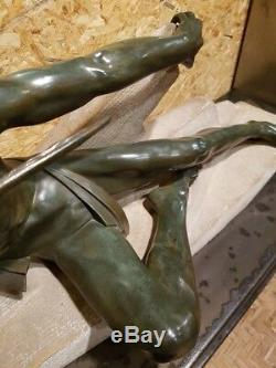 Max Le Verrier Art Deco Old Rare Large Statue Years 20 30 Bronze