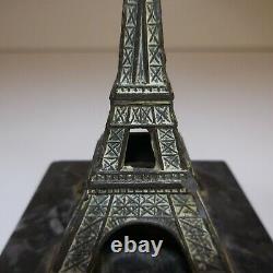 Miniature Sculpture Tour Effel Bronze Marble 1930 Art Deco Paris France N6448