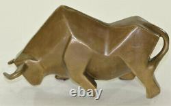 Modern Art Abstract Bull Bronze Figure Botero Statue Sculpture Figure