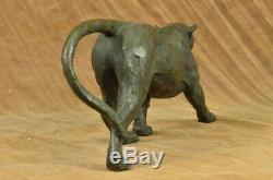 Modern Art Abstract Panther Jaguar Cougar Lion Bronze Sculpture Sale Bugatti