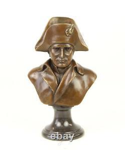 Napoleon Bonaparte Figure Sculpture Bust Bronze Boonzebüste Art New