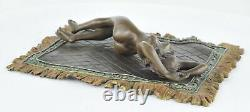Nymph Statue Sculpture Naked Sexy Style Art Deco Bronze Massive Sign