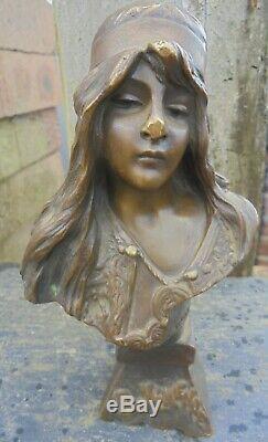 Old Bronze Art Nouveau Emmanuel Villanis Bohemian
