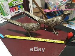 Old Couple Birds Bronze Pheasants Art Deco