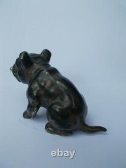 Old Cut Cigarette Art Deco English Bulldog English Sculpture Regulated Bronze