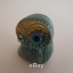 Owl Owl Miniature Bronze Sculpture Vintage Art Deco Design Twentieth N4448
