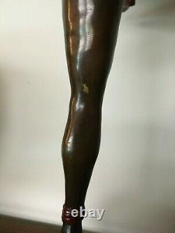 Pellier M Sculpture Bronze Art Deco Dancer Paon
