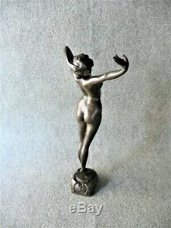 Philippe Large Sculpture Bronze Female Nude Bronze Art Deco Revival 1930 (1)