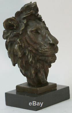Pure Copper Bronze Art Sculpture Marble Abstract Fu Foo Dog Lion Statue Wax