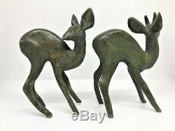 Raoh Schorr Pair Of Fawn Bronze Art Deco (royal Doulton)