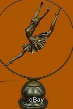 Rare Vitaleh Russian Ballerina Bronze Statue Figurine Art Deco