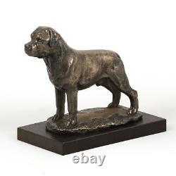 Rottweiler, Dog Statue On A Wooden Base, Limited Edition Art Dog Fr