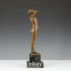 Salon Sculpture Nubien Bronze Feminine Nu Erotica Art Nouveau Statuette