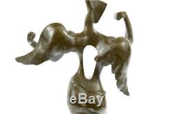 Salvador Dali Bronze Sculpture Signed And Sealed Angel Lost Wax Method Art