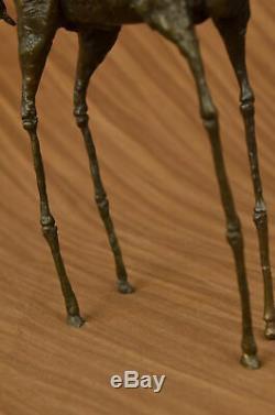 Salvador Dali Elephant With Length Legs Art Deco Bronze Sculpture Statue