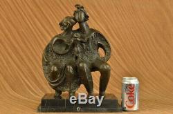 Salvador Dali Family Group Modern Art Abst Bronze Sculpture Handmade