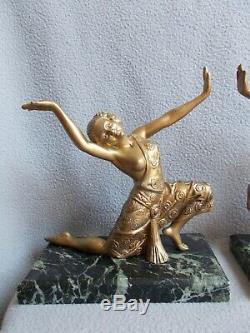 Sculpture Art Deco 1930 Female Dancer Statue Statuette Regulates Bronze