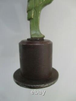 Sculpture Art Deco Bronze Marabout Paper Press Base In Forged Metal