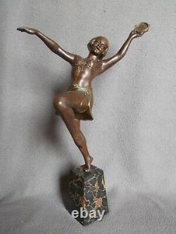 Sculpture Art Deco Statue 30s Woman Dancer Regulates Color Bronze Dancer Woman