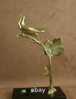 Sculpture Art Deco Status Bronze Birth Birth Animal Birth Signed Varnier